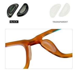 Nose Pads for Eyeglasses Grips Gasket Silicone Anti Slip Adhesive Sticky-2 Pairs