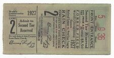 1927 World Series baseball ticket Pittsburgh Pirates New York Yankees Babe Ruth