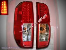 FOR 2005-2013 FRONTIER RED CLEAR LED TAIL LIGHTS LEFT+RIGHT PAIR NEW