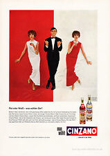 1963 CINZANO VERMOUTH Authentic VINTAGE Full Page German MAGAZINE AD