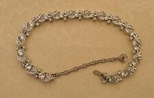 Vintage signed LISNER Necklace Sparkling High End  Rhinestones Choker silvertone