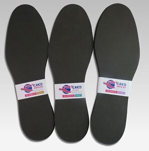 3 X Memory Foam Insoles 3/4/6mm Firm Poron Shoe Inner Sole Orthopedic Inserts UK