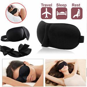 3D Eye Mask Travel Sleep Plane Sponge Beauty Cover Blindfold Blinder blackout