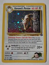 giovanni's persian 8/132 holo rare pokemon card!!!!