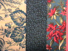 LOT OF 3 BLUE FLORALS see description for sizes~100% quality cotton sew fabric