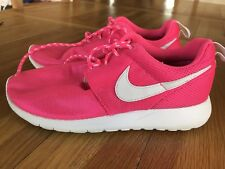 Nike Roshe Running Shoes Trainers Uk 5.5 Bright Pink Girls Ladies Sport VGC lace