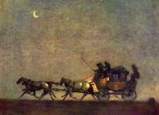 Stage Coach in the Moon Light by Cecil Aldin