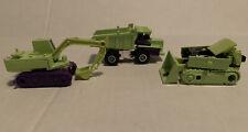Takara 1984 Dump Truck Bull Dozer Construction Excavator Lot Of 3 Vintage Toys