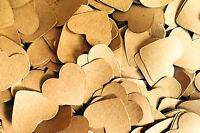 Brown Kraft Paper Heart Wedding Table Confetti / Decoration - Vintage / Rustic