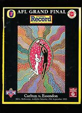 1993 Grand Final record Match Day Edition Carlton vs  Essendon unmarked Premiers