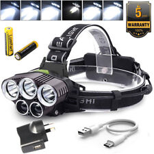 90000LM XM-L T6 LED HEADLAMP HEAD LIGHT Head LAMP TORCH FLASHLIGHT WATERPROOF