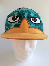 Disney's Phineas & Ferb Where's Perry?Platypus Snapback Camo Baseball Cap Hat