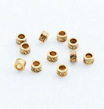 Hot 50pcs Brass Round Loose Charm Spacer Beads Jewelry Findings DIY Tool