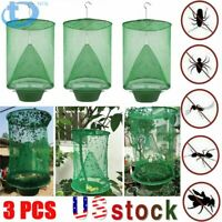 3PCS Ranch Fly Trap - Reusable Fly Catcher Killer Cage Net Trap Pest Bug Catch