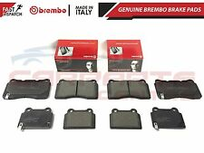 FOR MITSUBISHI LANCER EVO 10 X FQ300 FQ330 FQ360 FQ400 GENUINE BREMBO BRAKE PADS