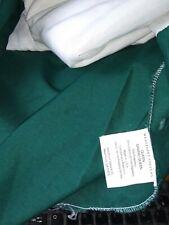 """Queen Bed Skirt Dust Ruffle Cotton/Polyester Dark Green 14"""" Drop Euc"""