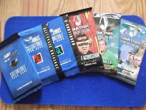 Lot of 6 Star Trek CCG packs cards Decipher 1E sealed NEW Mirror Rules Q Tribble