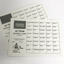 10 x 40 TEAM FOOTBALL FUNDRAISING SCRATCH CARDS UK TEAM NAMES GREAT QUALITY