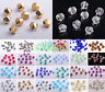 6mm/8mm/10mm/12mm Twist Helix Faceted Crystal Glass Loose Spacer Beads Making