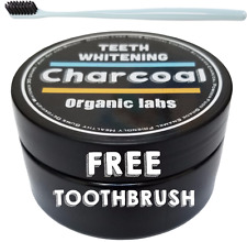 ORGANIC LABS - COCONUT ACTIVATED CHARCOAL 100% NATURAL TEETH WHITENING POWDER