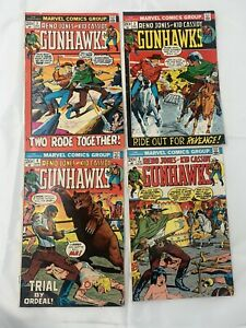 GUNHAWKS #1 2 3 4 (MARVEL 1972) 1ST APP RENO JONES & KID CASSIDY Comic Lot