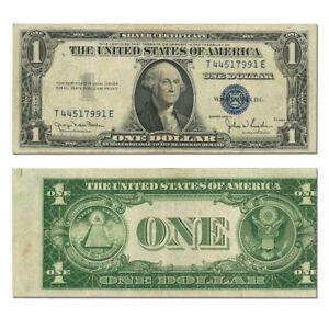 1935D $1 Silver Certificate Misaligned Back Printing Error (XF)