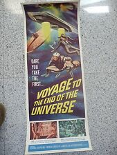 Original Movie Poster Vintage 1964 Voyage to the End of the Universe