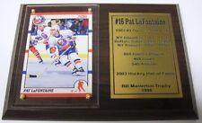 New York Islanders Pat LaFontaine Hockey Card Plaque