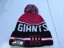 NEW ERA New York Giants NY Womens Pom Beanie Winter Cap Purple Fleece Lined NFL