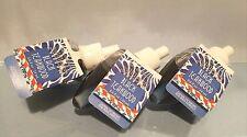BATH & BODY WORKS BLACK TEAKWOOD WALLFLOWER FRAGRANCE REFILLS BULBS LOT OF 3