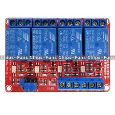 5V 4 Channel Relay Module With Optocoupler High Low Level Trigger For Arduino CF
