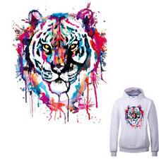 Tiger Patches For Clothes Washable Ironing Stickers Print On T-shirt Dresses  ET
