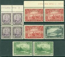 EDW1949SELL : CANADA 1928-29 Nice collection of Better values. Mint NH Cat $620.