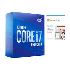 Intel Core i7-10700K Desbloqueado Procesador de escritorio + Microsoft 365 personal 1 año
