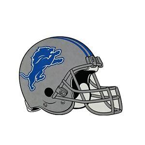"DETROIT LIONS NFL STICKER 3""x2.5"" TEAM FOOTBALL HELMET LEAGUE CONFERENCE"