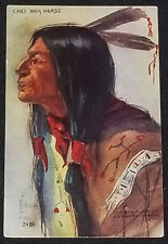 1908 - CHIEF HIGH HORSE - SIGN L.PETERSON #3424 - H.H.TAMMEN - EMBOSSED POSTCARD