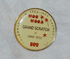 "OHIO 1988 GRAND SCRATCH VFW VETERANS COOTIES MOCA 1"" GOLDTONE METAL LAPEL PIN"