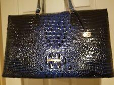 Brahmin Duxbury Carryall Sapphire Blue Melbourne Leather Weekend Bag