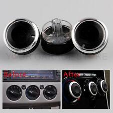 3x Schwarz Klimaanlage Wärmer Kontrolle AC Knopf Für Ford Focus MK2 MK3