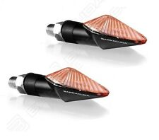 BARRACUDA PAIR INDICATORS MINI VIPER BLACK SHORT TRIUMPH SPEED TRIPLE 1050/R