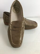 Dr Keller Comfort Pale Gold Patent Leather Loafers Shoes. Size 8UK. Ex Condition