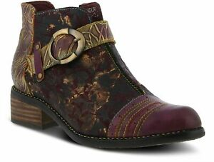 NIB L'ARTISTE BY SPRING STEP GEORGIANA BOOTIES PURPLE MULTI 37 (US 6.5-7)
