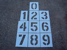 "12"" x 8"" Plastic Number Stencils for a Parking Lot Big Edges 1/16"", 60 Mil Ldpe"