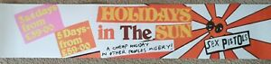"""THE SEX PISTOLS """"HOLIDAYS IN THE SUN"""" BANNER POSTER"""