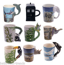 Shaped Handle Novelty Ceramic Mugs   Coffee   Tea   Mug   Fun   Ideal Present