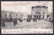 TORINO CITTÀ 435 ESPOSIZIONE 1902 ARTE DECORATIVA MODERNA Cartolina viagg. 1902