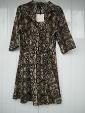 QED London Snake Print Wrap Dress Size 14