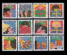 France 4893-4904 Greeting stamps - Happy New Year [12 USED Stamps]