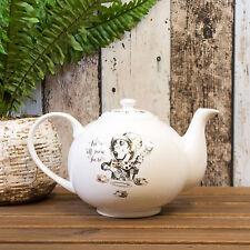Alice In Wonderland Mad Hatter 1100ml Teapot Vintage Fine China Tea Party Pot