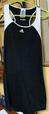 women's adidas tennis dress size M black, white